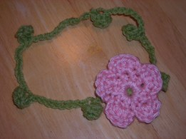 Flower Headband in Pink (Other Colors too)