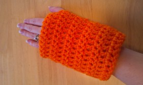 Orange Wrist Warmers