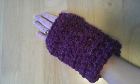 Cranberry Wrist Warmers