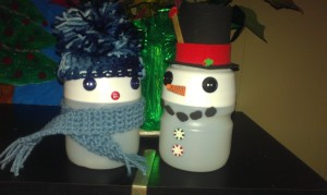 Kool-Aid Container Snowmen