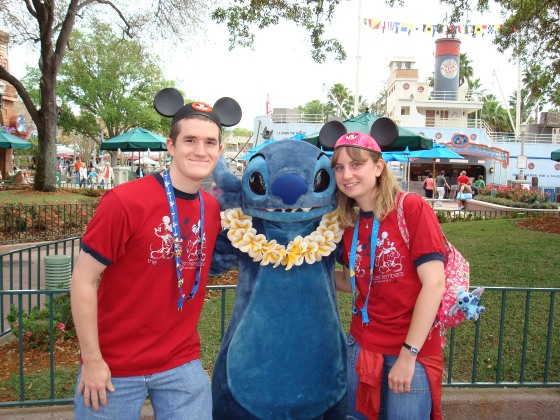 My and the Hubby during our Disney College Program Internship.