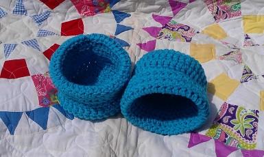 Small Aqua Baskets