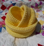 Our Light Yellow Nesting Baskets are perfect for a nursery.  The large basket would be perfect for diapers or stuffed animals, the medium and small for baby powder and other necessary items.  Of course they would be perfect in other parts of the house too!  They are crocheted using 2 strands of yarn for stiffness.