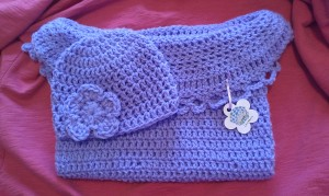 Lavender Hat and Cocoon Set