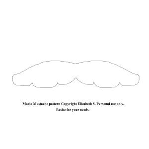 Mario mustache pattern