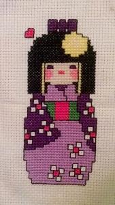 Kokeshi Doll Cross Stitch