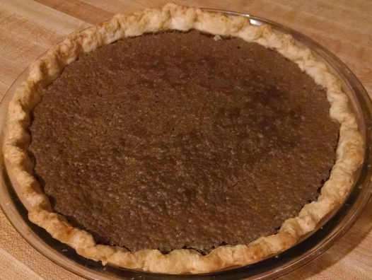 Chocolate Chess Pie (in my kitchen)